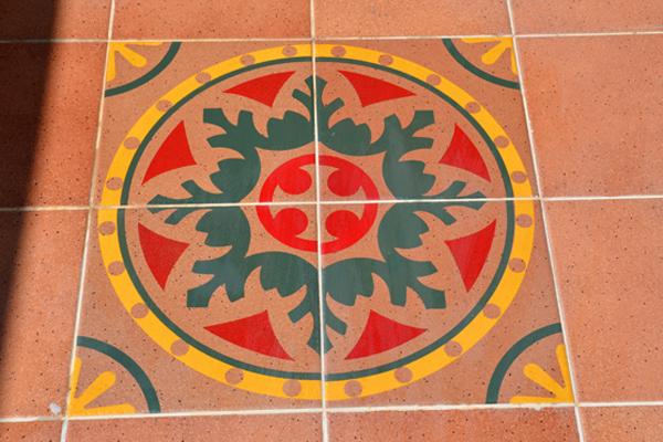 אריחים מצוירים שטיח קרמיקה לבית