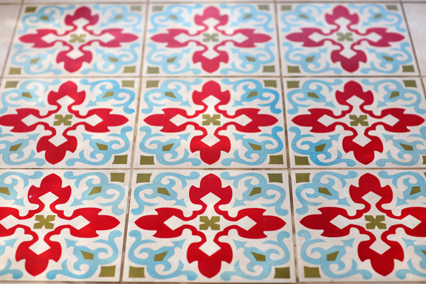 שטיח קרמיקה אריחים מצוירים לבית
